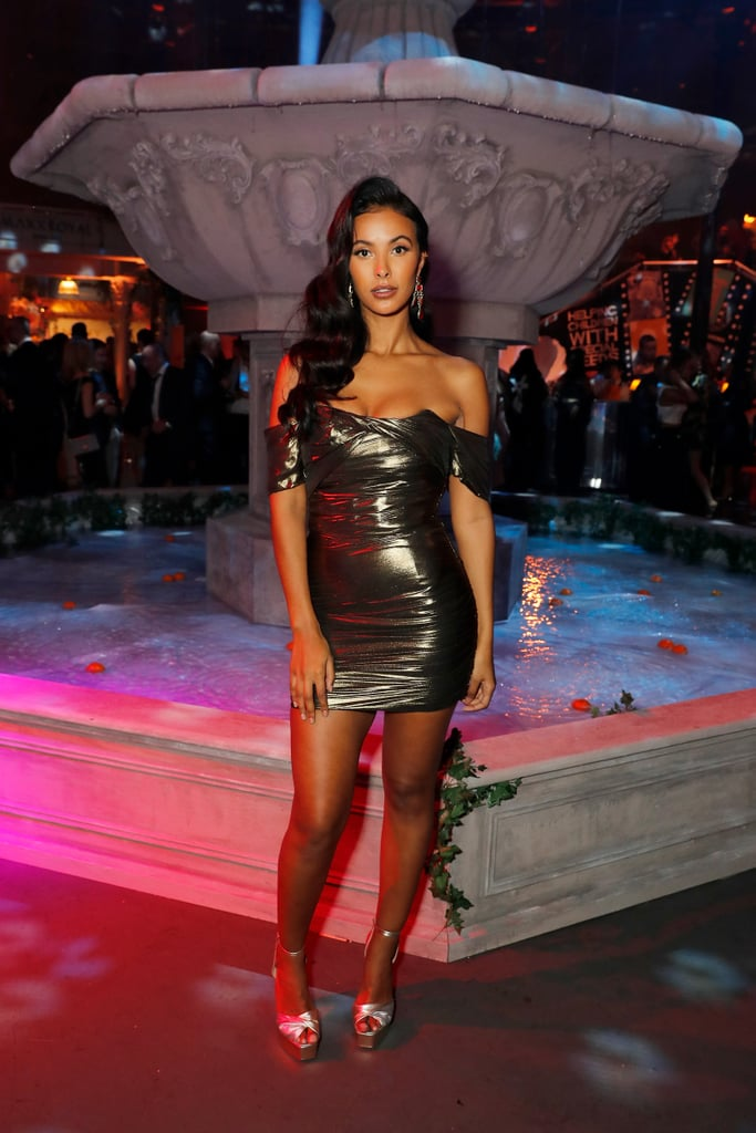 As well as being a successful TV and radio presenter, Maya Jama's also become one of the most sought-after VIPs on the London party scene. Though she picks her events with care, when she does hit the town, she never disappoints, always dressing to the nines and bringing a little sex appeal to proceedings. One of the few stars who can pull off a dress with both a high hem and an off-the-shoulder neckline, she's made the sexy mini her trademark, sporting the look to events like the Brit Awards and the Teen Awards; she even created her own fashion collection chock-full of '90s-inspired miniskirts and co-ords. But even when she opts for a gown, Maya will turn up the heat with the addition of sheer panels, a low-cut neckline, or a sexy split. She has mastered the perfect pose and definitely isn't afraid to work her angles. Keep reading for over 30 of her sexiest red carpet moments.      Related:                                                                                                           Fall Back in Crazy Stupid Love With 11 of Cheryl's Sexiest Music Video Moments