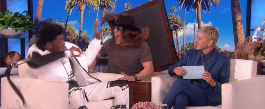 Watch Ellen DeGeneres Scare Lil Nas X on Her Talk Show