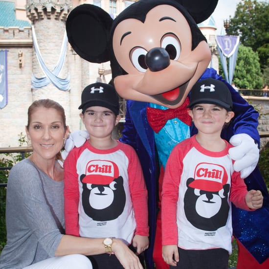Celine Dion With Twin Boys at Disneyland