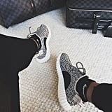 """Kylie shared her new kicks on Instagram, captioning the photo """"early bird catches the worm."""""""
