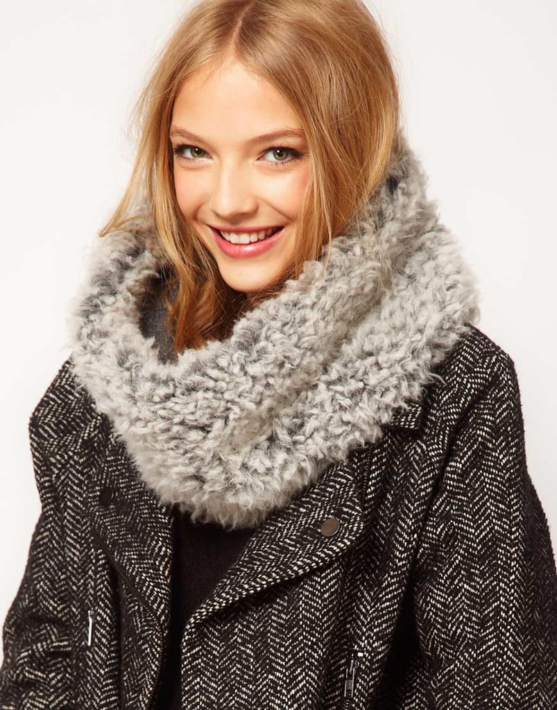 This ASOS faux shearling snood ($32) is the kind of thing you basically live in all of the cold-weather season — and you can bet we would.