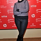 Lena Dunham struck a pose at the Sundance Film Festival.