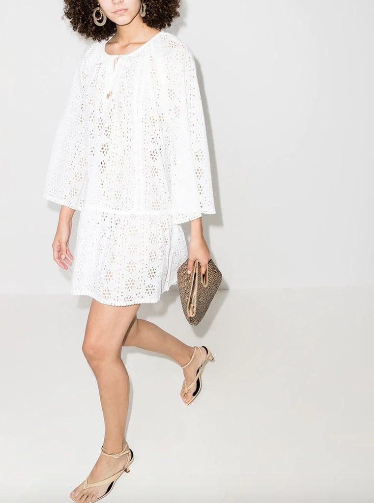 Melissa Odabash Open-Stitch Detail Mini Dress
