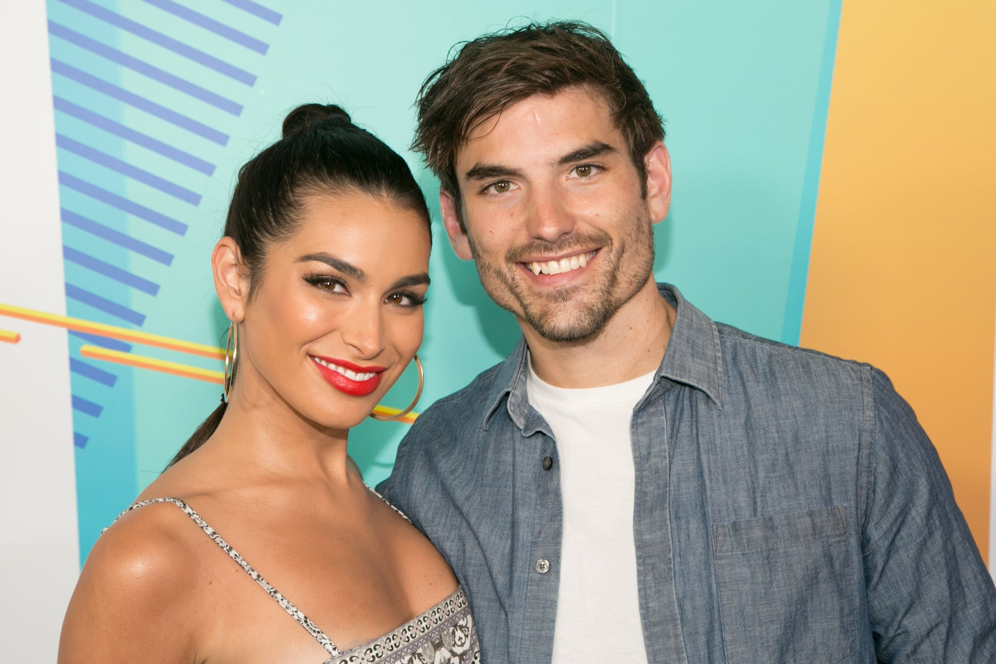 LOS ANGELES, CA - JUNE 02:  Ashley Iaconetti (L) and Jared Haibon arrive for iHeartRadio's KIIS FM Wango Tango By AT&T at Banc of California Stadium on June 2, 2018 in Los Angeles, California.  (Photo by Gabriel Olsen/WireImage)
