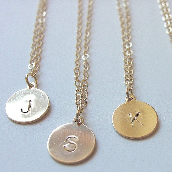 Top 100 Wedding Gifts: Personalized Initial Necklaces