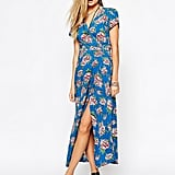 Motel Wrap Front Maxi Dress With Thigh Split in Floral Print ($95)
