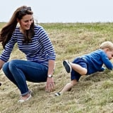 He Even Convinced Kate to Roll Down Hills With Him!