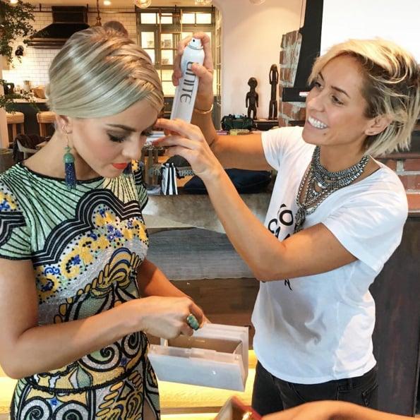 Riawna Capri Styling Julianne's Hair