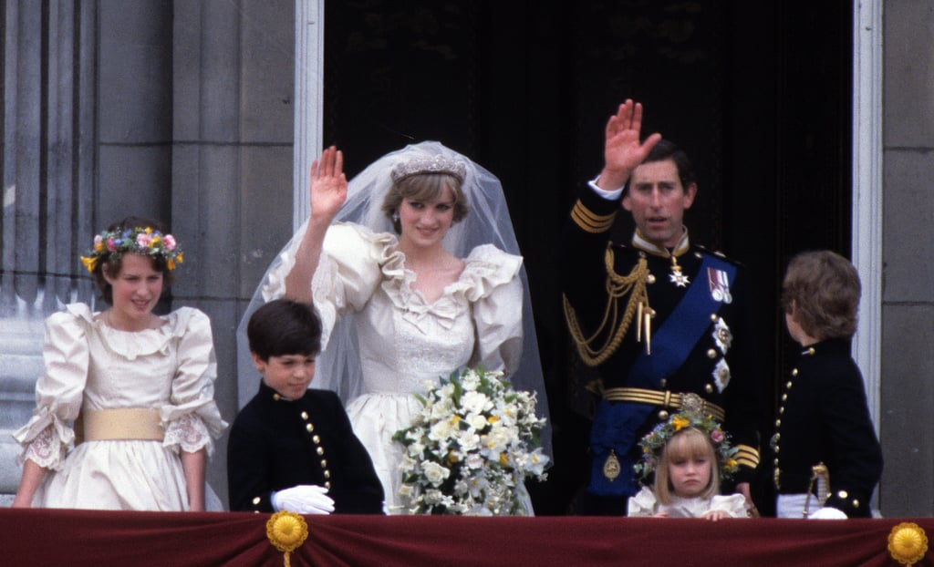 Prince Charles and Lady Diana Spencer  The Bride: Lady Diana Spencer. The Groom: Charles, prince of Wales. When: July 29, 1981. Diana was 20 years old and Charles was 32. Where: The ceremony took place at St. Paul's Cathedral in London, and 750 million watched it on TV around the world.