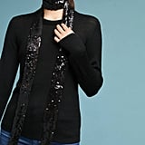 Anthropologie Sequined Skinny Scarf