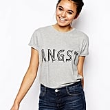 ASOS Boyfriend T-Shirt With Angst Embroidered Print ($34)