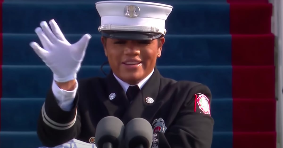 Andrea Hall Made History When She Led the Pledge of Allegiance on Inauguration Day