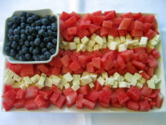 Watermelon and Feta Flag