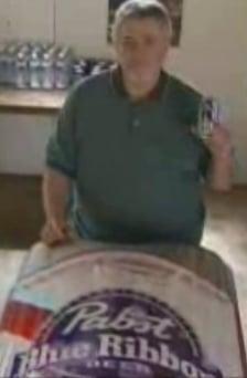 Pabst Blue Ribbon Beer Casket