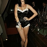 She went black and white for an LA dinner honoring Rihanna in June 2008.