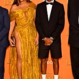 Pictured: Beyoncé and Pharrell Williams at The Lion King premiere in London.