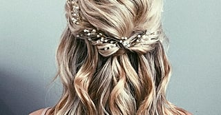 42 Half-Up Wedding Hair Ideas That Will Make Guests Swoon On Your Big Day