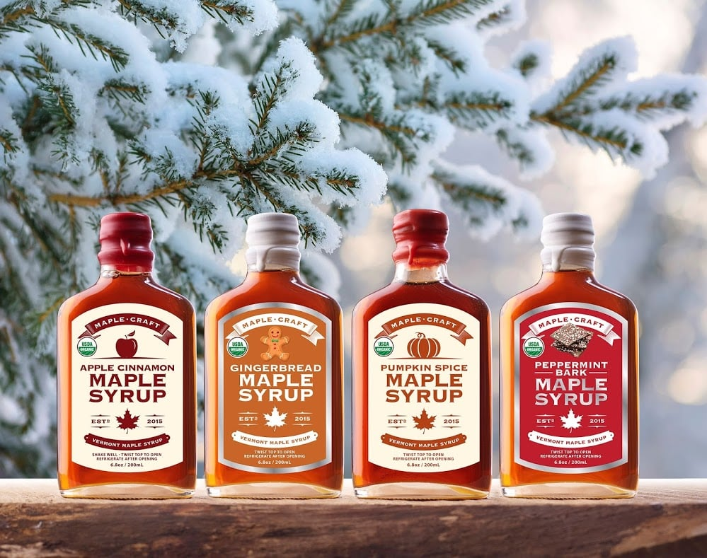 Maple Craft Released Holiday-Inspired Syrup Flavors