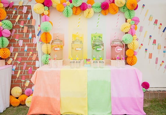 The Prettiest Pastel Popsicle Party