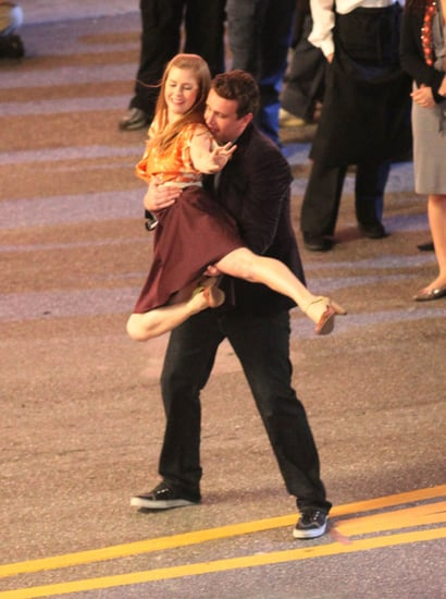 Pictures of Jason Segel and Amy Adams Dancing For the Muppets Movie in LA