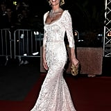 Eva Herzigova walked into the opening night dinner at the Cannes Film Festival.