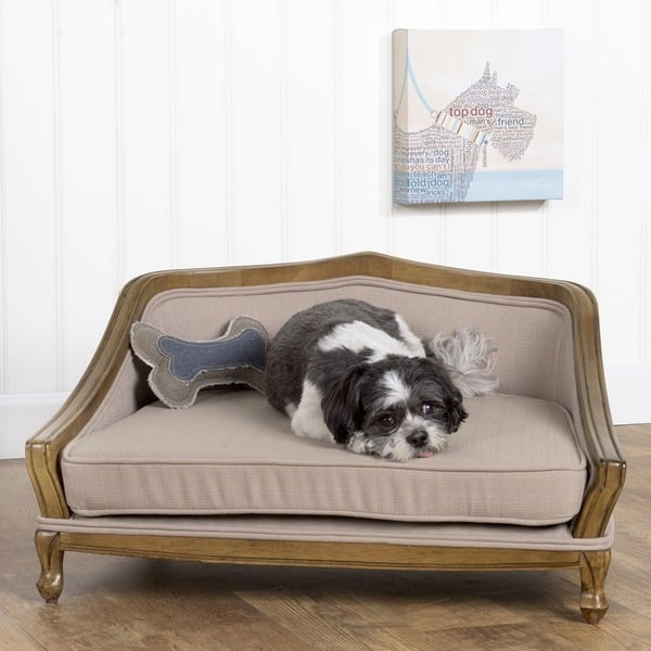 Pretty pet products popsugar pets for Wood dog bed furniture