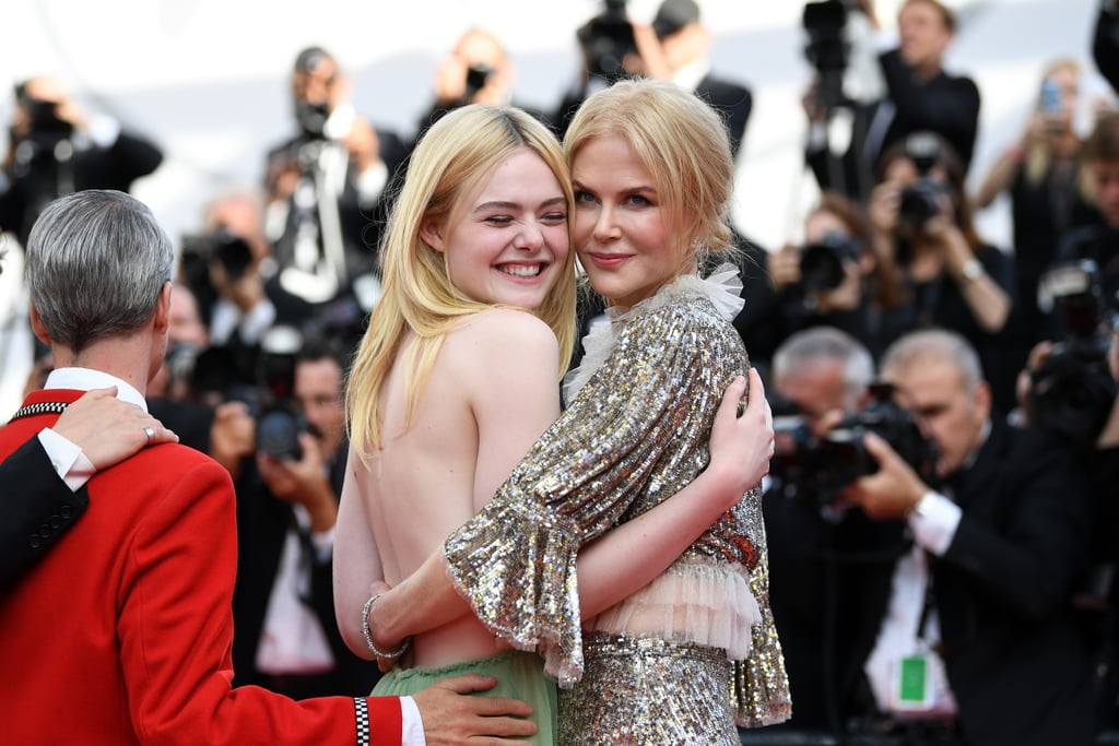 Elle Fanning and Nicole Kidman hugged it out on the red carpet in 2017.