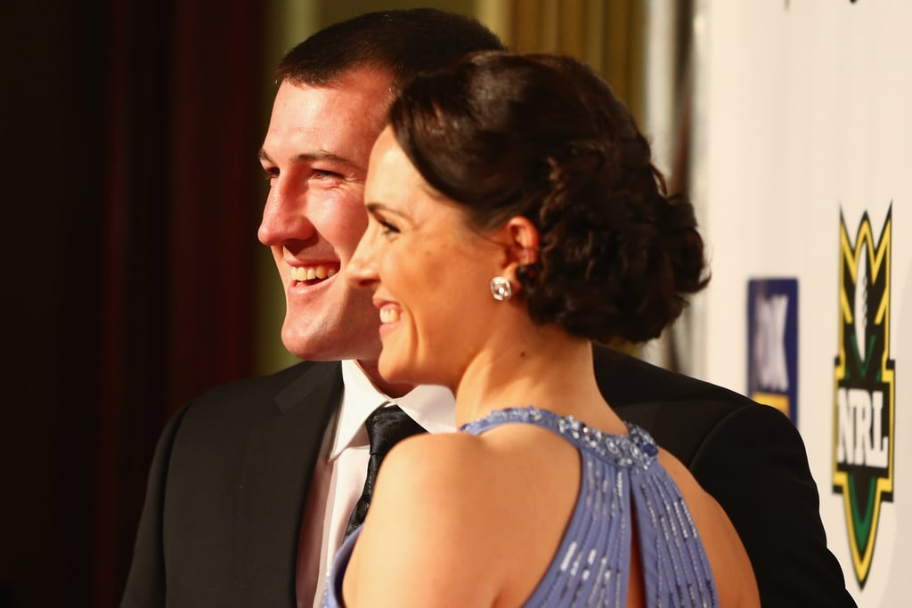 Paul Gallen and his fiancée Anne shared a laugh on the red carpet.