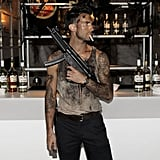 Adam Levine gave Rambo a run for his money at Maroon 5's Halloween party in 2010.