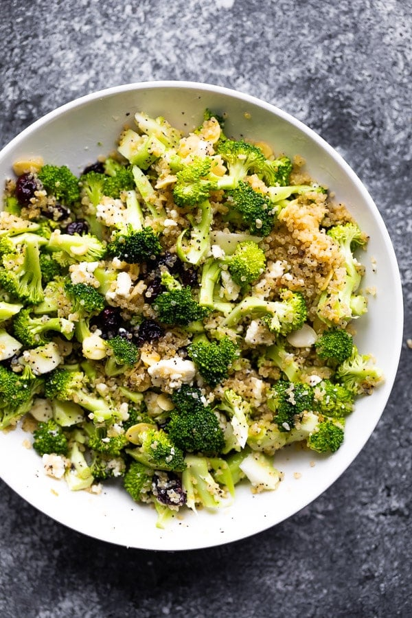 Broccoli Salad with Almonds and Quinoa