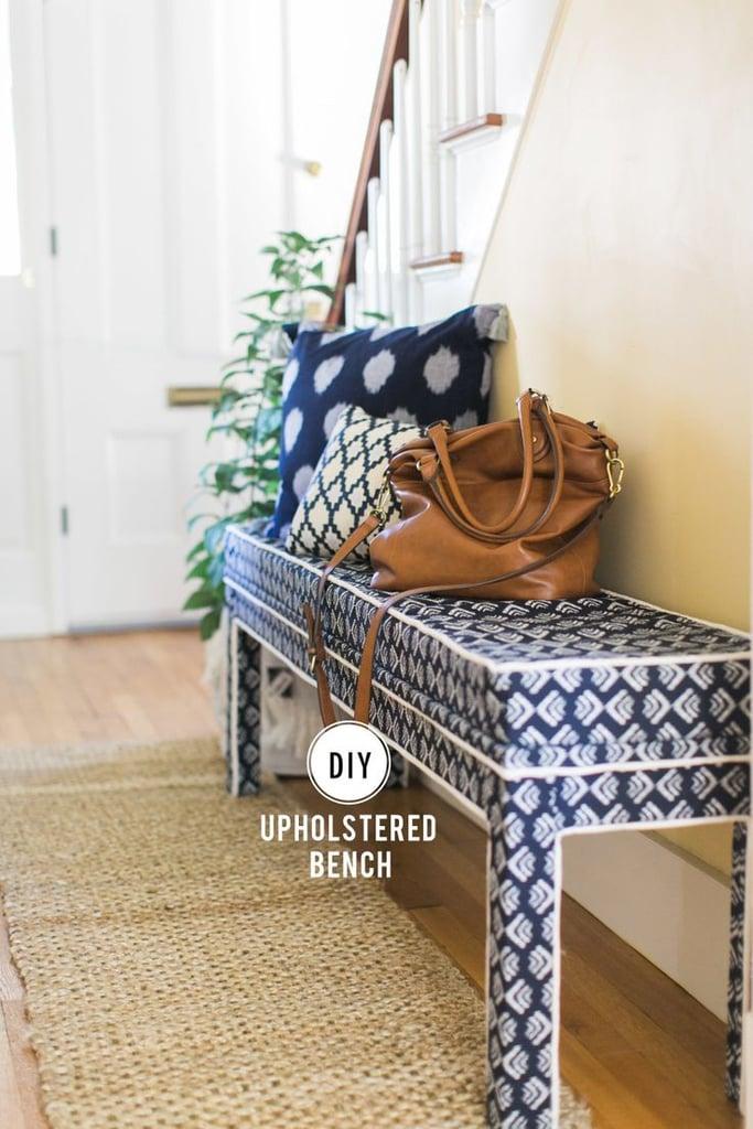 DIY Upholstered Ikea Bench