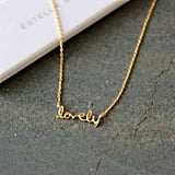 "The Little House Shop ""Lovely"" Gold Plated Necklace (£22)"