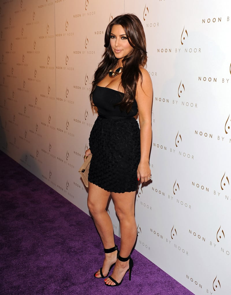 Kim Kardashian posed alone before the event.