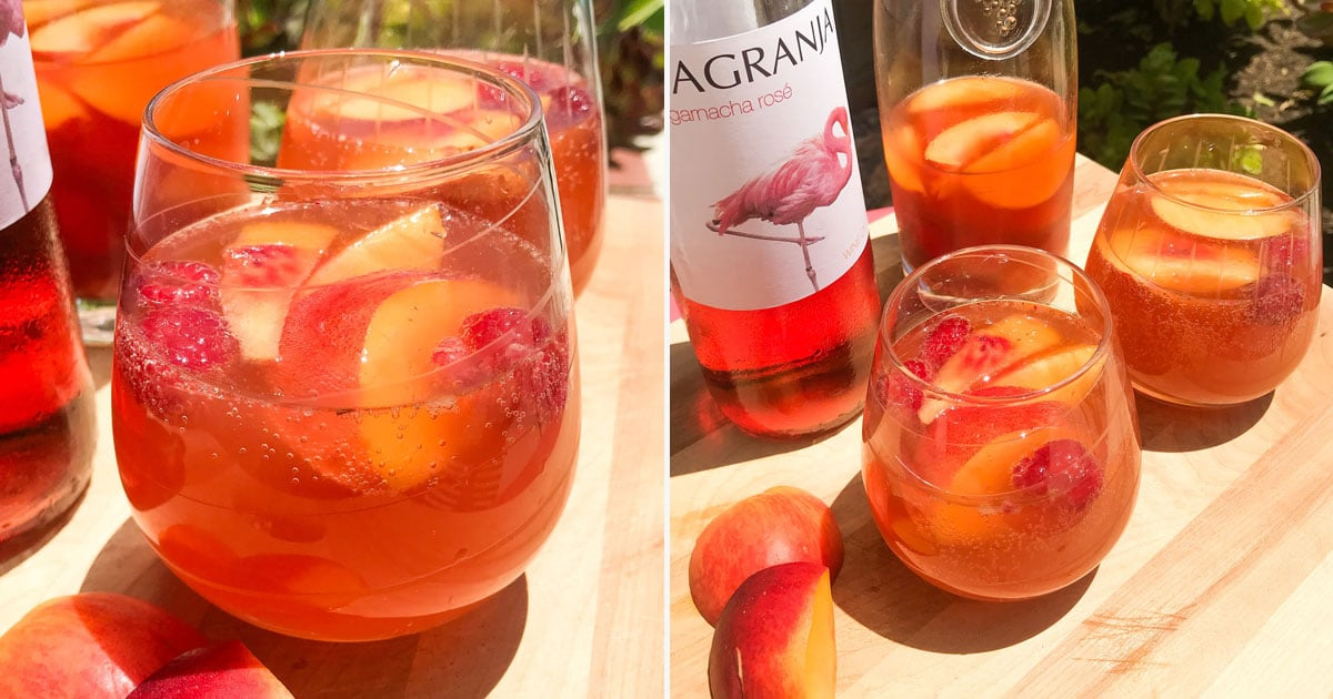 This Peach Rosé Sangria Needs a Warning Label Because I Could Easily Drink the Whole Pitcher