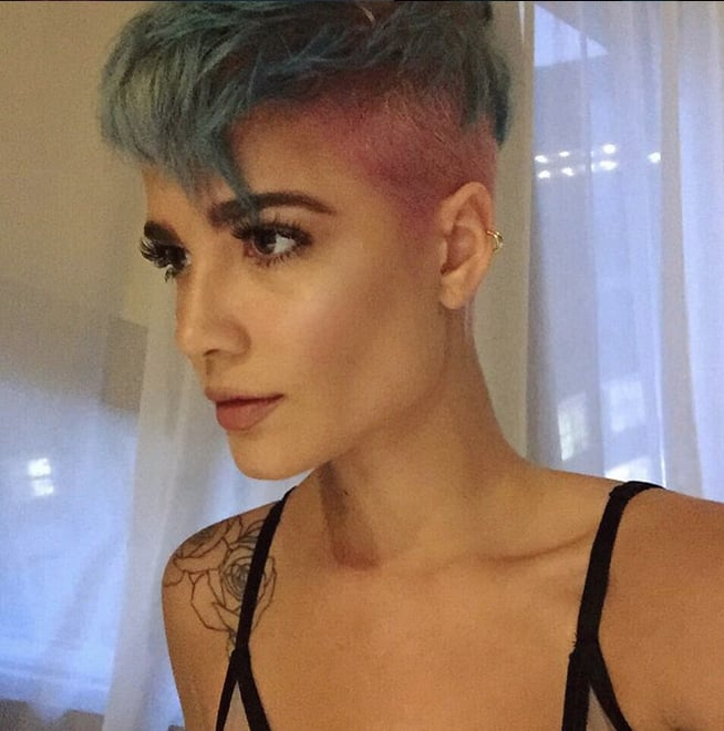 Her Cotton Candy Hair Looks Edgy Instead Of Zany Halsey Instagram