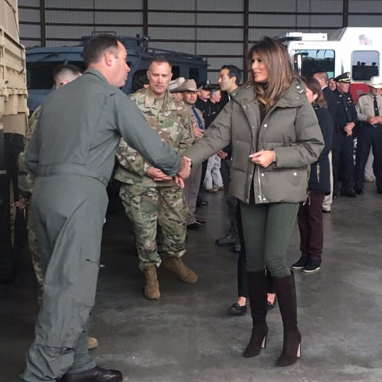 Melania Trump Black Stiletto Boots in Texas