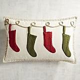 Traditional Holiday Stockings Pillow ($35)