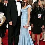 Melania attended the 2007 Golden Globes in this sky blue, floor-sweeping number.
