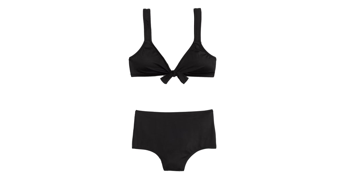 a15573515f Madewell Second Wave Tie-Front Bikini Top and Retro High-Waisted Bikini  Bottom | Best Bikinis For Your Body Type | POPSUGAR Fashion Photo 35