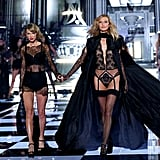 Karlie and Taylor held hands during the 2014 Victoria's Secret Fashion Show.
