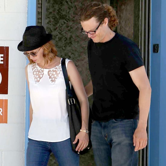 January Jones Holding Hands With a New Man