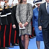 The duchess her final solo appearance while pregnant with Prince George in Southampton, England, on June 13, 2013, when she christened a Princess Cruises ship.
