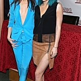Kendall Jenner wore a revealing jumpsuit at her and sister Kylie's Rebels: City of Indra book signing Tuesday in Ridgewood, NJ.