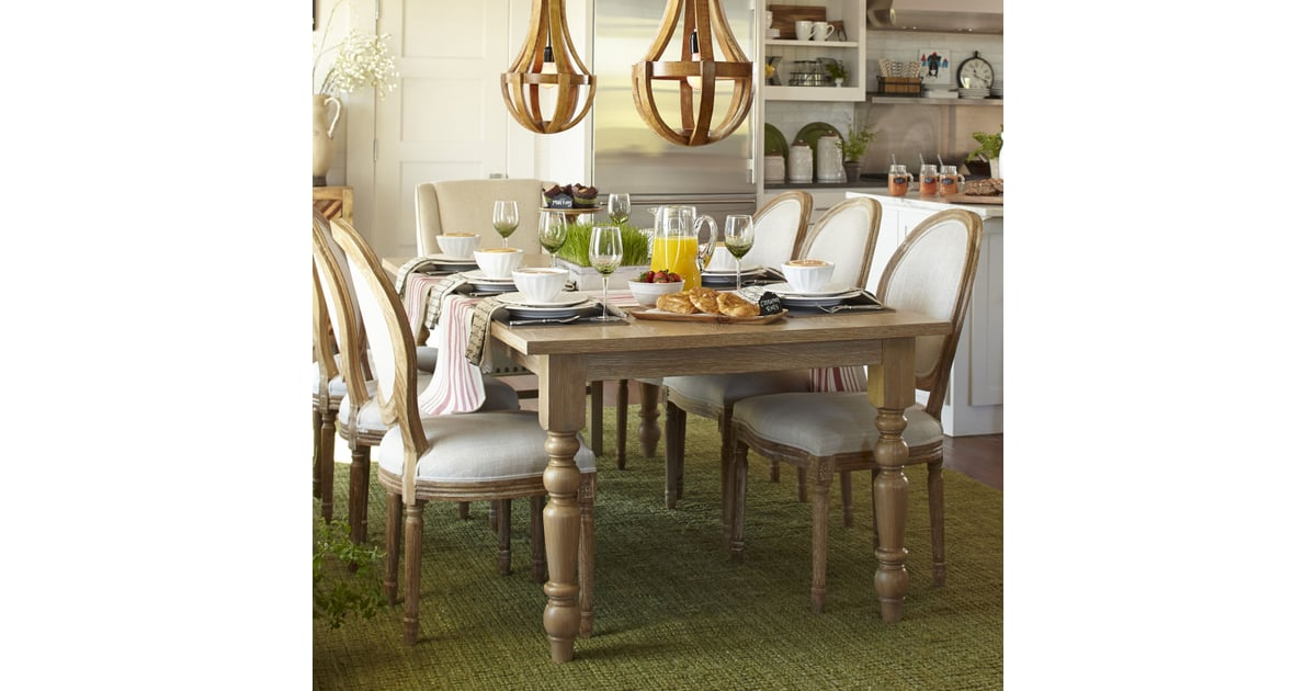 Natural Whitewash Turned Leg Dining Tables From Affordable - Natural whitewash dining table