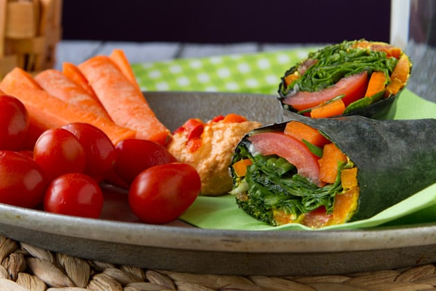 Vegan Cheese and Veggie Wraps