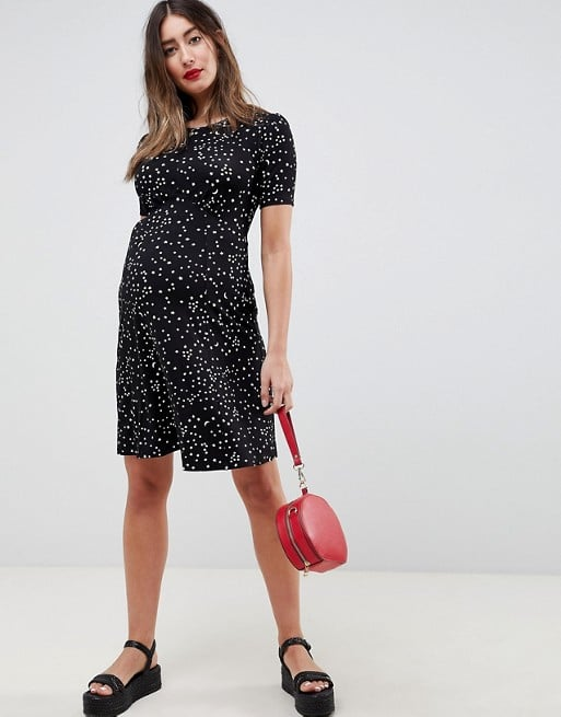04cd55a1efbaf Maternity Ultimate Mini Tea Dress in Scatter Star Print | Maternity ...