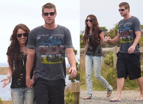 Photos of Miley and Her New Man