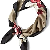 Banana Republic Floral Small Square Silk Scarf