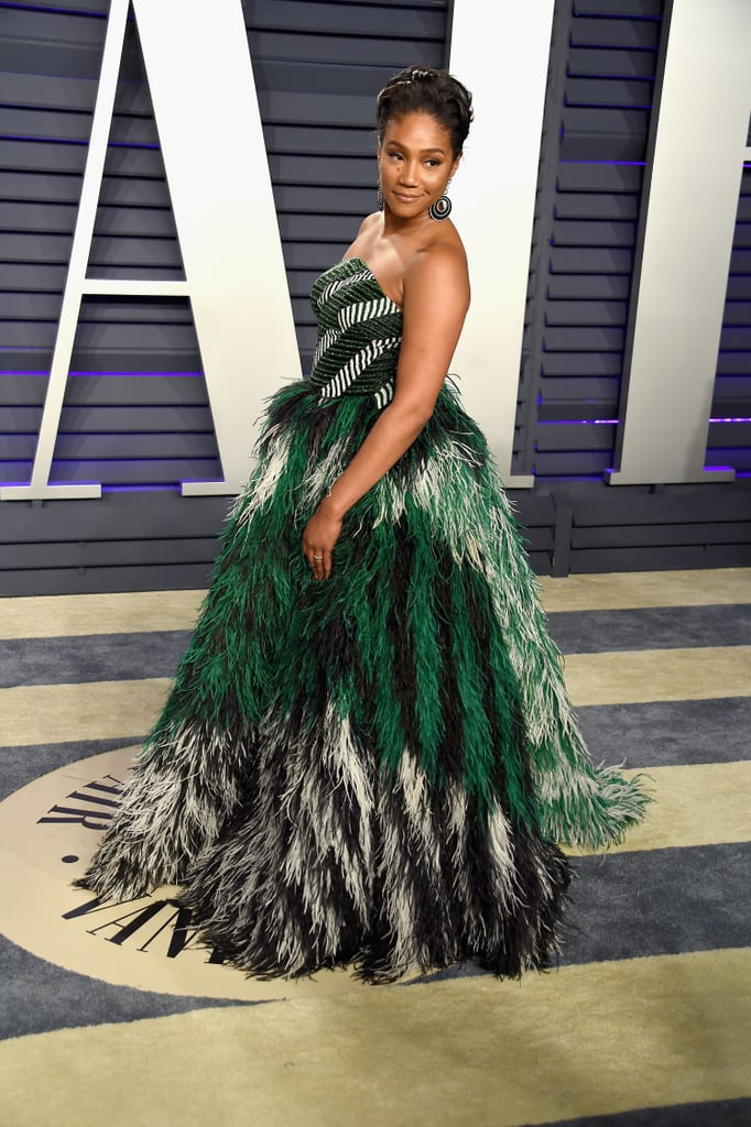 "In true fashion, Tiffany Haddish did not hold back in her reaction to Lady Gaga and Bradley Cooper's highly anticipated performance of ""Shallow"" at the 2019 Oscars. The actress was asked about the buzzy award show moment at the annual Vanity Fair afterparty, and she told Entertainment Tonight, ""I was like, are they doin' it? It was so good."" Tiffany added, ""That was hot!"" While many viewers shared a similar sentiment online, we'd like to take this opportunity to remind everyone that the performance took place a few feet away from Bradley's girlfriend, model Irina Shayk, whom he also shares a daughter with — so, that appears to be that on that! But hey, we can always count on Tiffany to say exactly what's on her mind.      Related:                                                                                                           Lady Gaga and Bradley Cooper's ""Shallow"" Performance Was Unforgettable, and So Are the Photos"