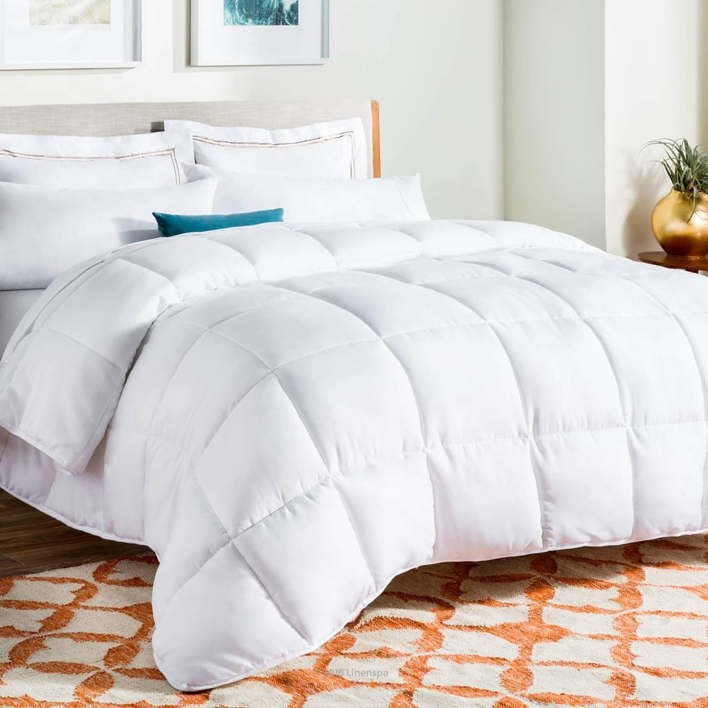 LINENSPA All-Season White Down Alternative Quilted Comforter in King